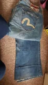 Evisu ladies jeans