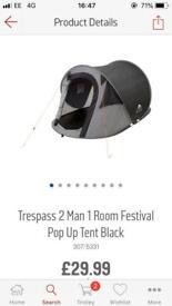 2 man pop up festival tent