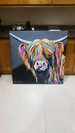 Steve Brown Cow canvas -Heather mc coo