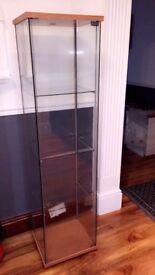 4 tier glass cabinet x2