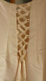 used ivory wedding dress