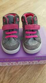 Girls Clarks high top trainers