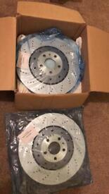 Audi RS6 C6 V10 front discs & pads.