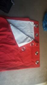 Pair of Red blackout curtians