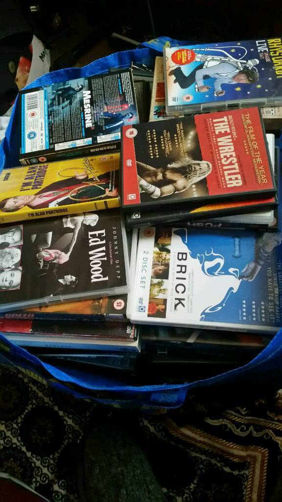Bag of DVDS around 120 titles ****full list in ad****