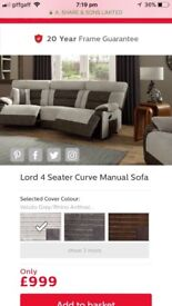 REDUCED*** SCS Lord Recliner Sofa