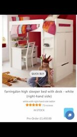 ASPACE high cabin bed (desk and cupboard)