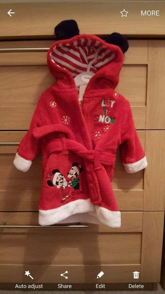 3 to 6 months Disney dressing gown