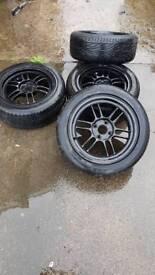 "Enkei RPF1 15"" Wheels with Nearly New Tyres"
