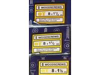 Slotted Countersunk Brass Woodscrews 8 x 1 1\2