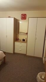 2 Pcs Wardrobe + 2 Pcs Bed Side Table + 1 Pc Dresser / Chest Of Drawer (All Furniture From IKEA)