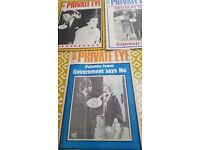 Private Eye Magazines 1985 - copies individually priced but will entertain nearest offers