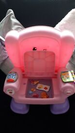 Girls pink fisher price music chair.