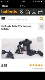 HALFORDS INFLATOR PUMP