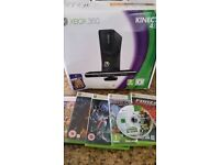 XBOX 360, KINECT, 2 Controllers, 6 games