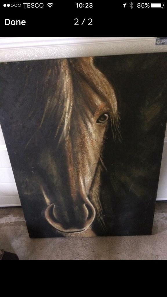 Canvas horse painting