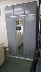 Triple Grey Wardrobe + Top Box
