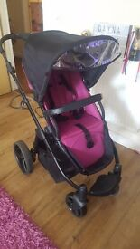 Loganberry red kite travel system