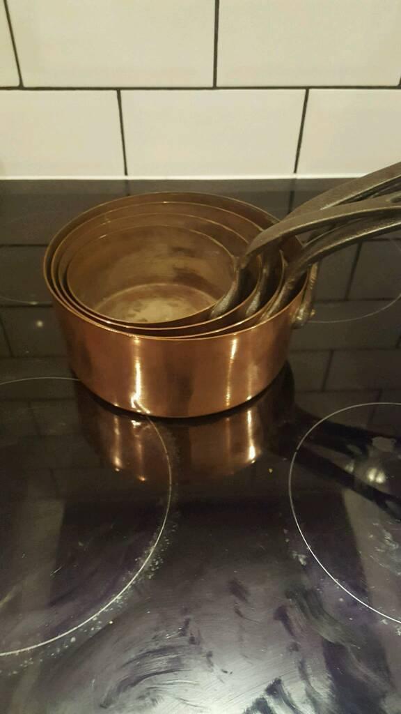 4 copper pans
