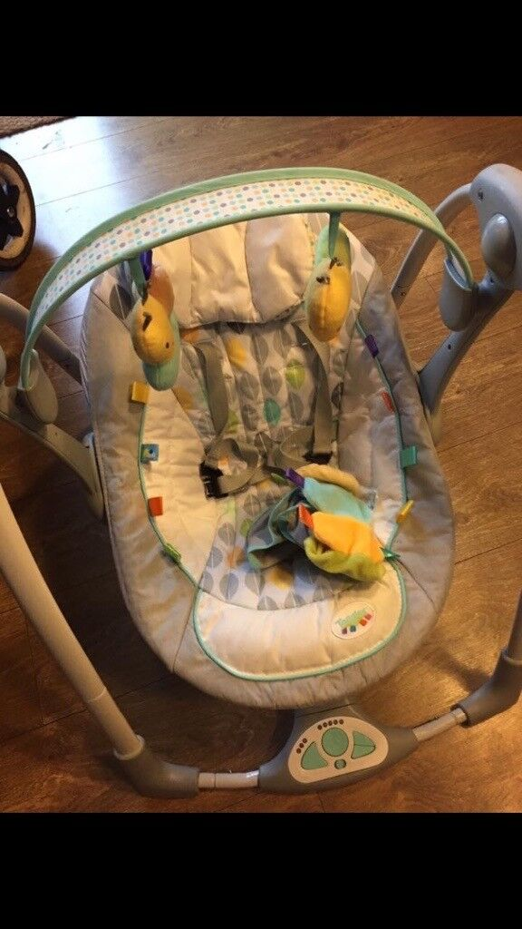 Taggies baby swing chair
