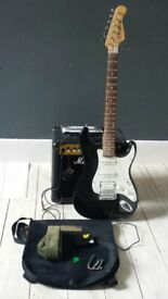 Marshall Deluxe Electric Guitar starter set with Marshall Amp.