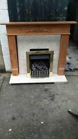 Fire place surround hearth mantle piece gas fire