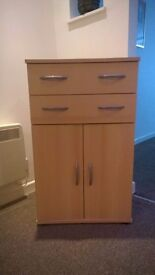 Pair of Bedroom or Storage Cupboards with Shelf and two Drawers.