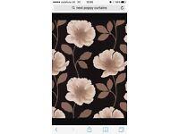 2 X pairs of next poppy curtains 66x90