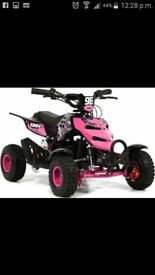 mini quad pink that it's in mint condition starts first time everytime petrol 49cc