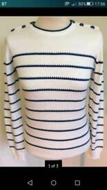 Ness brand new navy striped jumper. Size Small