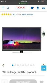 "Technika 24"" HD Ready slim LED DVD TV NEW"