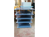 5 shelf glass media unit (delivery available)