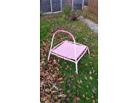 Junior / toddler trampoline - pink - collect from Cheadle Hulme