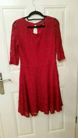 Size 12 red lace dress