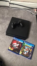 PlayStation 4500gb with 2 games