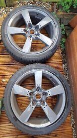 "Set of 4 18"" Mazda RX8 Alloys. 5x114.3"