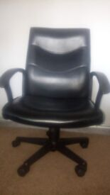 computer chair / leather chair