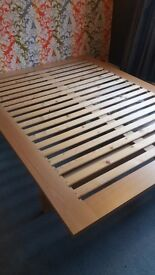 Habitat King size bed frame, wooden, ready to reassemble