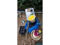 FREE plant pots and some accessories as in pic. Garden.
