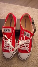 New Red converse with box
