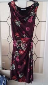 Ladies floral wrap dress, size small
