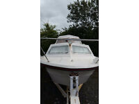 20ft Norman cruiser boat with 65hp mercury engine