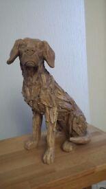 Oak carved dog