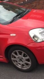 TOYATO YARIS T SPORT 4 TYRES WITH 4 SPORTS ALLOYS