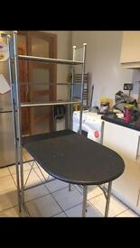 Kitchen table and shelves