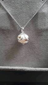 Clogau pearl and rose gold necklace