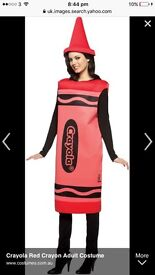 Red crayola fancy dress costume