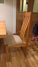 8 Oak Tall (High) Back Dining Chairs - Handmade Oak Chair for Dinner Tables