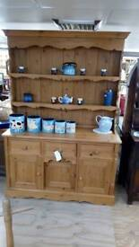 Pine wide large dresser nice and clean