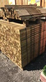 3ft pressure treated decking spindals £1.40 each